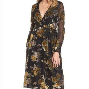 NWOT Sonya Medium Wrap Midi Dress ASTR THE LABEL